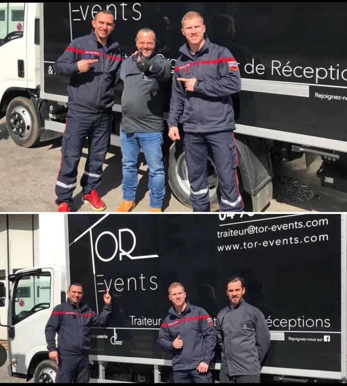 TOR Events traiteur et les pompiers de Lyon
